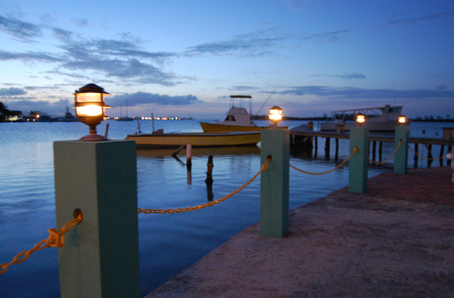Dock Lighting At Night